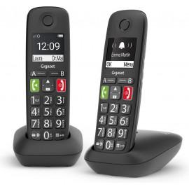 Gigaset E290 Duo Aparelho de telefone analógico ID do Emissor e Nome Preto