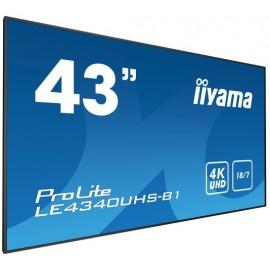 "iiyama LE4340UHS-B1 ecrã de sinalização 108 cm (42.5"") LED 4K Ultra HD Preto"