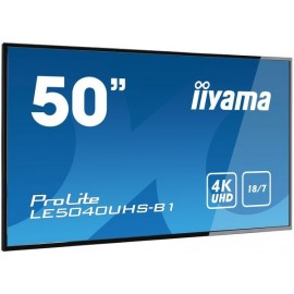 "iiyama LE5040UHS-B1 ecrã de sinalização 127 cm (50"") LED 4K Ultra HD Plasma digital Preto"