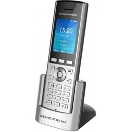 Grandstream Networks WP820 telefone IP Preto, Prateado Estação sem fios LCD 2 linhas Wi-Fi