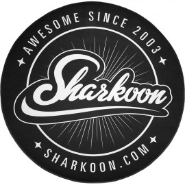 Sharkoon Floor Mat individual Redondo Preto, Branco 1 peça(s)