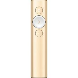 Logitech Spotlight comando para apresentações Bluetooth RF Dourado