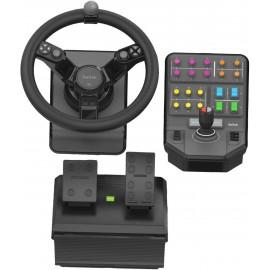 Logitech 945-000062 controlador de jogo Volante + Pedais Analógico   Digital Preto