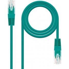 Nanocable 10.20.0100-GR cabo de rede 0,5 m Cat5e U UTP (UTP) Verde