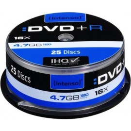 Intenso DVD+R 4.7GB, Printable, 16x 4,7 GB 25 peça(s)