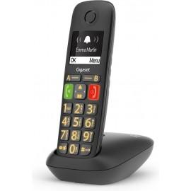 Gigaset E290 Telefone analógico DECT Preto ID do Emissor e Nome