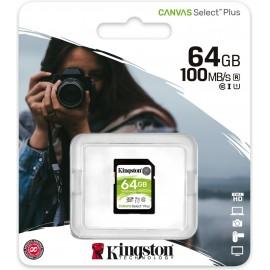 Kingston Technology Canvas Select Plus cartão de memória 64 GB SDXC Classe 10 UHS-I