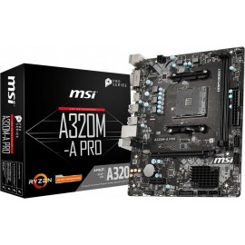 MSI A320M-A PRO placa mãe Socket AM4 Micro ATX AMD A320