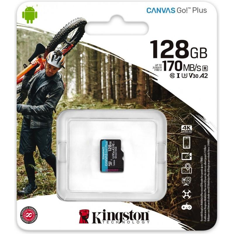 Kingston Technology Canvas Go! Plus cartão de memória 128 GB MicroSD Classe 10 UHS-I