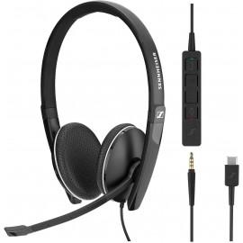 Sennheiser SC 165 USB-C Conjunto de auscultadores e microfone acoplado Fita de cabeça Preto