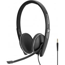 Sennheiser SC 165 Conjunto de auscultadores e microfone acoplado Fita de cabeça Preto