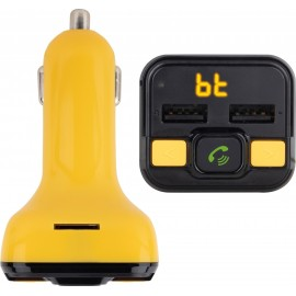 NGS Spark BT Curry transmissor FM 87,5 - 108 MHz Isqueiro de charuto Preto, Amarelo
