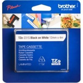 Brother TZE-231S etiquetadora Preto sobre branco