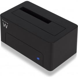 Ewent EW7012 Docking Station para Discos Rígidos USB 3.2 Gen 1 (3.1 Gen 1) Type-B Preto