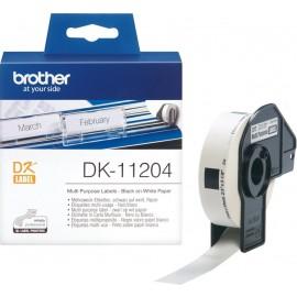 Brother DK-11204 etiquetadora Preto sobre branco