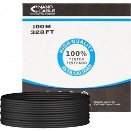 Nanocable 10.20.0302-EXT-BK cabo de rede 100 m Cat5e U UTP (UTP) Preto