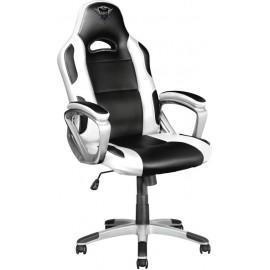 Trust GXT 705W Cadeira de jogos para PC Preto, Branco