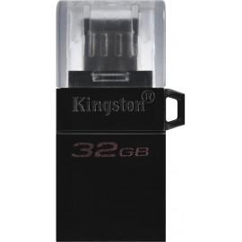 Kingston Technology DataTraveler microDuo3 G2 unidade de memória USB 32 GB USB Type-A   Micro-USB 3.2 Gen 1 (3.1 Gen 1) Preto