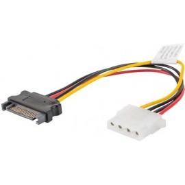 Lanberg CA-SAHD-10CU-0015 cabo SATA 0,15 m SATA 13-pin + Molex (4-pin) SATA 15-pin Preto, Vermelho, Amarelo