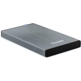 """TooQ TQE-2527G Caixa para Discos Rígidos 2.5"""" Caixa de disco rígido Preto, Cinzento"""