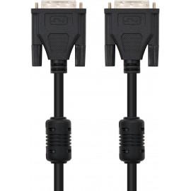 Nanocable 10.15.0602 cabo DVI 1,8 m Preto