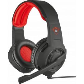 Trust GXT 310 Conjunto de auscultadores e microfone acoplado Capacete Vermelho