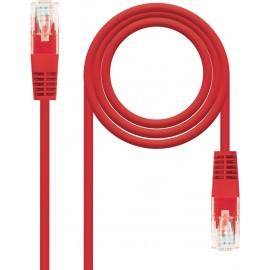 Nanocable 10.20.0100-R cabo de rede 0,5 m Cat5e U UTP (UTP) Vermelho