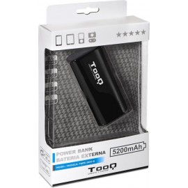 TooQ TQPB-1052-B power bank Preto Lítio 5200 mAh
