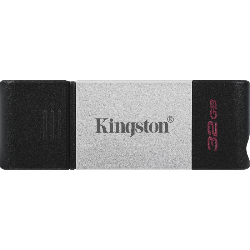 Kingston Technology DataTraveler 80 unidade de memória USB 32 GB USB Type-C 3.2 Gen 1 (3.1 Gen 1) Preto, Prateado