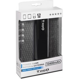 TooQ TQPB-1104-B power bank Preto Lítio 10400 mAh