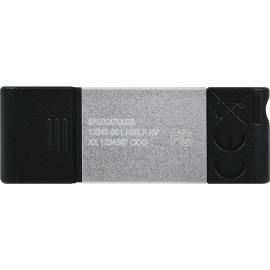 Kingston Technology DataTraveler 80 unidade de memória USB 64 GB USB Type-C 3.2 Gen 1 (3.1 Gen 1) Preto, Prateado