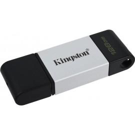 Kingston Technology DataTraveler 80 unidade de memória USB 128 GB USB Type-C 3.2 Gen 1 (3.1 Gen 1) Preto, Prateado