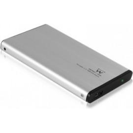 """Ewent EW7041 Caixa para Discos Rígidos 2.5"""" Alumínio, Preto Energia por USB"""