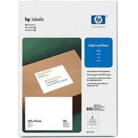 HP Etiquetas 105 x 74 mm-100 folhas A4 210 x 297 mm