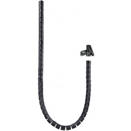 Nanocable 10.36.0001-BK manga de cabos Preto 2,5 cm