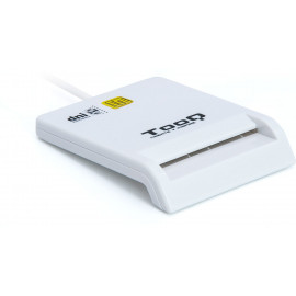 TooQ TQR-210W leitor de smart card Interior Branco USB 2.0