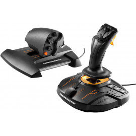 Thrustmaster T.16000M FCS Hotas Joystick MAC, PC Analógico   Digital USB Preto, Laranja