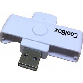 CoolBox COO-CRU-SC01 leitor de controlo de acesso Leitor de controlo de acesso USB Azul