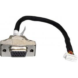 Shuttle PVG01 15-pin Mini D-Sub 2 x 10-pin Preto, Inox, Branco