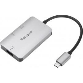 Targus ACA948EU hub de interface USB 3.2 Gen 1 (3.1 Gen 1) Type-C 5000 Mbit s Prateado