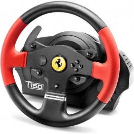 Thrustmaster T150 Ferrari Wheel Force Feedback Preto, Vermelho USB Volante + Pedais PC, PlayStation 4, Playstation 3