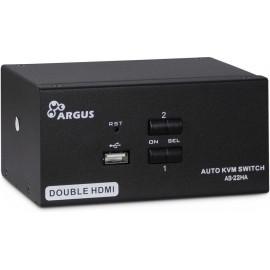 Inter-Tech AS-22HA HDMI chaveador KVM Preto
