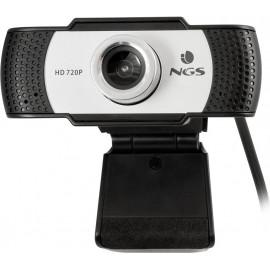 NGS XpressCam720 webcam 1280 x 720 pixels USB 2.0 Preto, Cinzento, Prateado