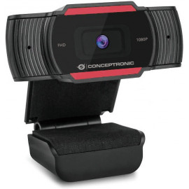 Conceptronic AMDIS 1080P FHD webcam 1920 x 1080 pixels USB 2.0 Preto, Vermelho