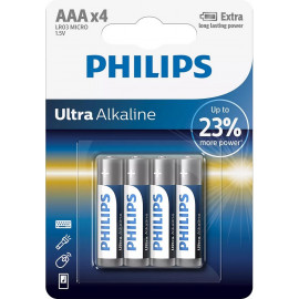 Philips 4 Pilhas AAA Ultra...