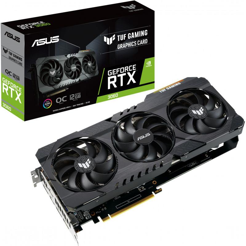 ASUS TUF Gaming TUF-RTX3060-O12G-GAMING NVIDIA GeForce RTX 3060 12 GB GDDR6