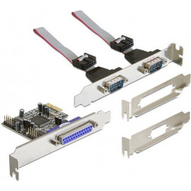 DeLOCK PCI Express card 2 x serial, 1x parallel placa adaptador de interface