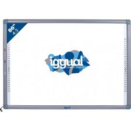 "iggual IGG314371 quadro branco interativo 2,18 m (86"") Ecrã táctil Cinzento, Branco USB"