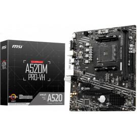 MSI A520M PRO-VH AMD A520 Socket AM4 micro ATX