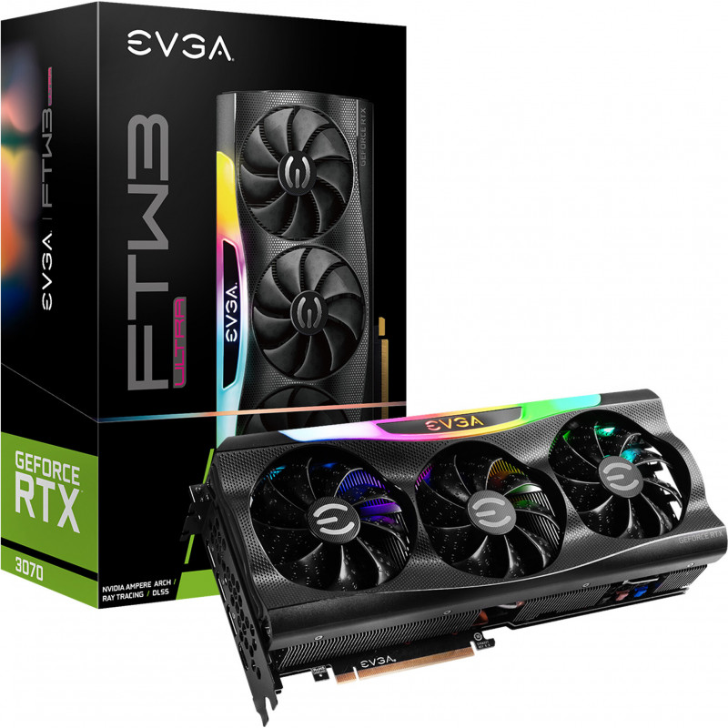 EVGA 08G-P5-3767-KL placa de vídeo NVIDIA GeForce RTX 3070 8 GB GDDR6